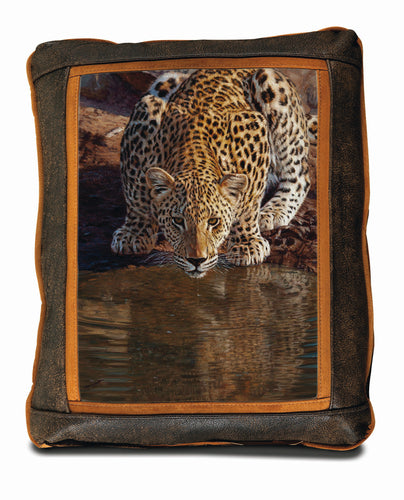Banovich Wild Accents-Fresh Water-Leather Pillow