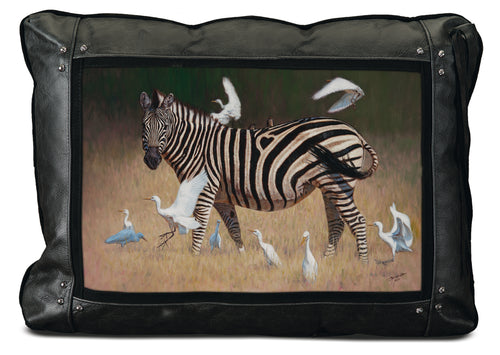 Banovich Wild Accents-From Africa With Love-Leather Pillow