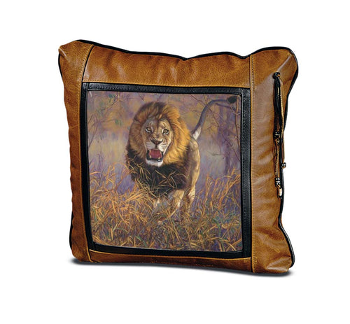 Banovich Wild Accents-Inside the Red Zone-Leather Pillow