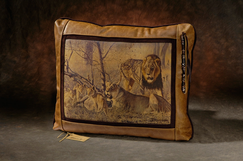 Banovich Wild Accents-Bahati Ya Kawinda-Leather Pillow