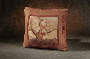 Banovich Wild Accents-Under the Baobab-Leather Pillow