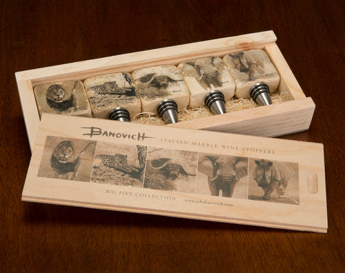 Banovich Wild Accents-Big Five African Collection-Wine Stoppers