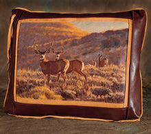Banovich Wild Accents-Big Muley-Leather Pillow