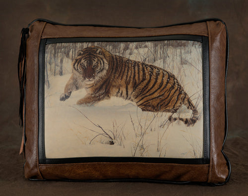Banovich Wild Accents-Cat and Mouse-Leather Pillow