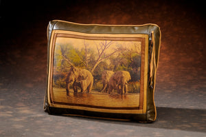 Banovich Wild Accents-Eden-Leather Pillow