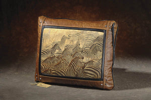 Banovich Wild Accents-Explosion-Leather Pillow
