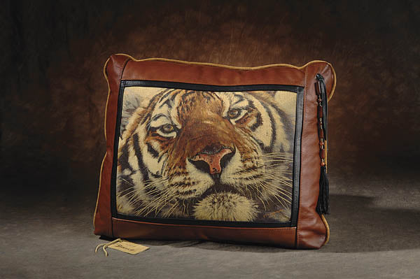 Banovich Wild Accents-Face to Face-Leather Pillow