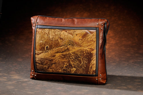 Banovich Wild Accents-First Light-Leather Pillow
