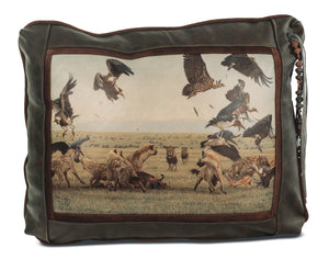 Banovich Wild Accents-Game of Lions-Leather Pillow