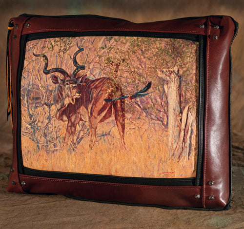 Banovich Wild Accents-Just Passing By-Leather Pillow