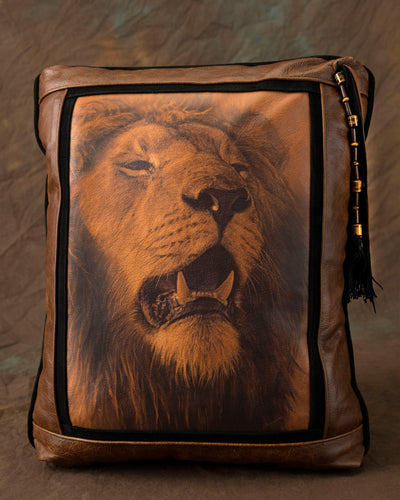 Banovich Wild Accents-King-Leather Pillow