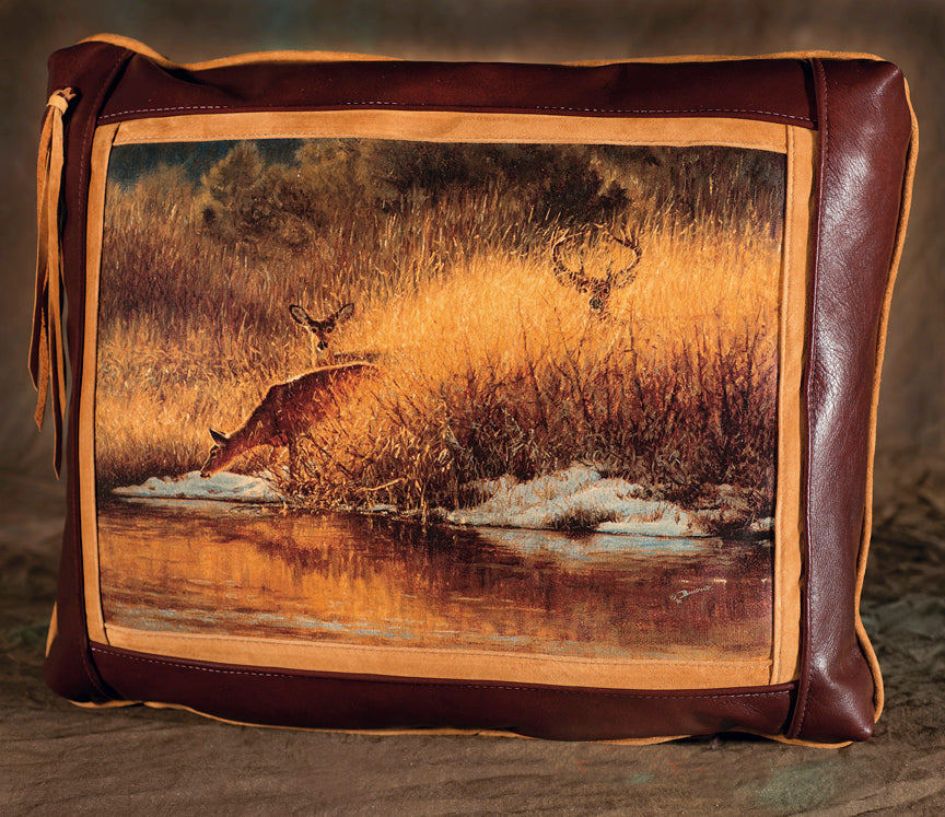Banovich Wild Accents-Ladies First-Leather Pillow