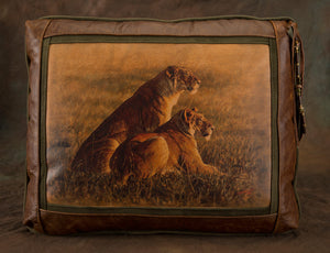 Banovich Wild Accents-Ndugus-Leather Pillow