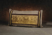 Banovich Wild Accents-Offensive Line (sepia)-Leather Pillow