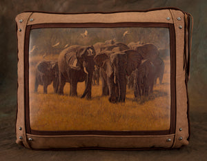 Banovich Wild Accents-Parade-Leather Pillow
