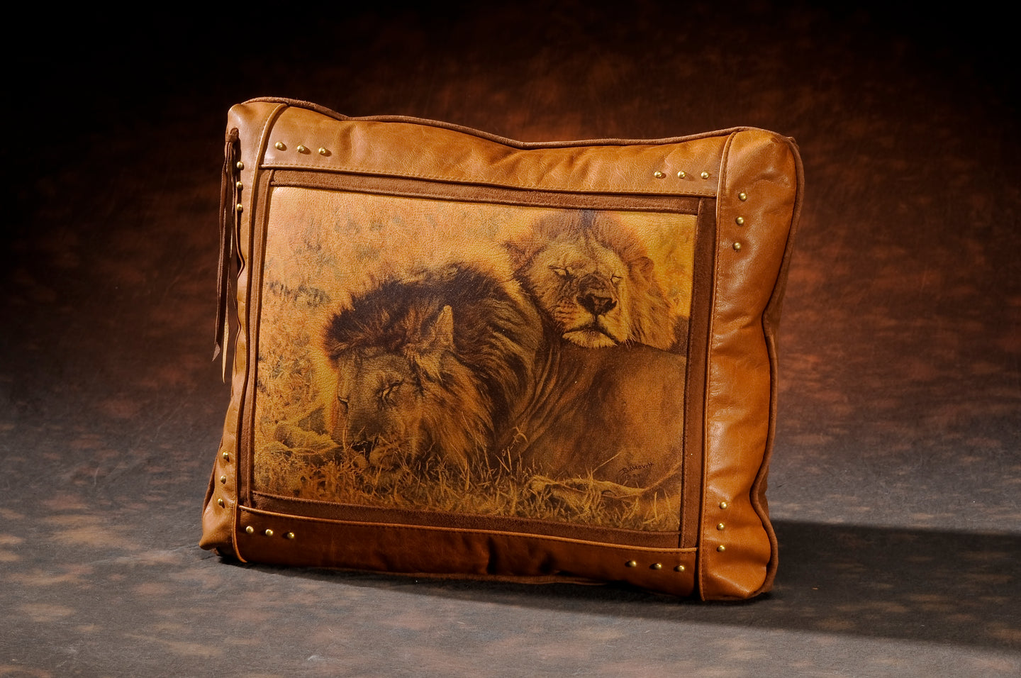Banovich Wild Accents-Partners-Leather Pillow