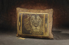 Banovich Wild Accents-Portrait of a King-Leather Pillow