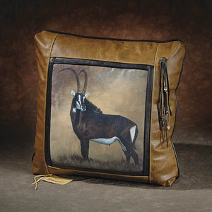 Banovich Wild Accents-Sable-Leather Pillow