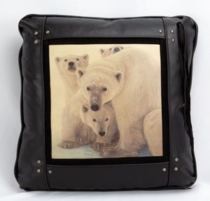 Banovich Wild Accents-Someone to Watch Over Us-Leather Pillow