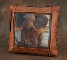 Banovich Wild Accents-Tlou Ledimo-Leather Pillow
