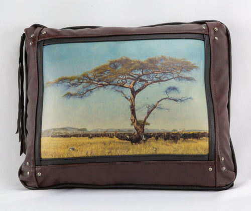 Banovich Wild Accents-Where Buffalo Roam-Leather Pillow