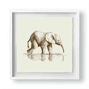 John Banovich - WILD CHILD-Elephant (Paper Gallery Edition)
