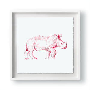 John Banovich - WILD CHILD-Rhino (Paper Gallery Edition)
