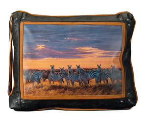 Banovich Wild Accents-Joining the Migration-Leather Pillow