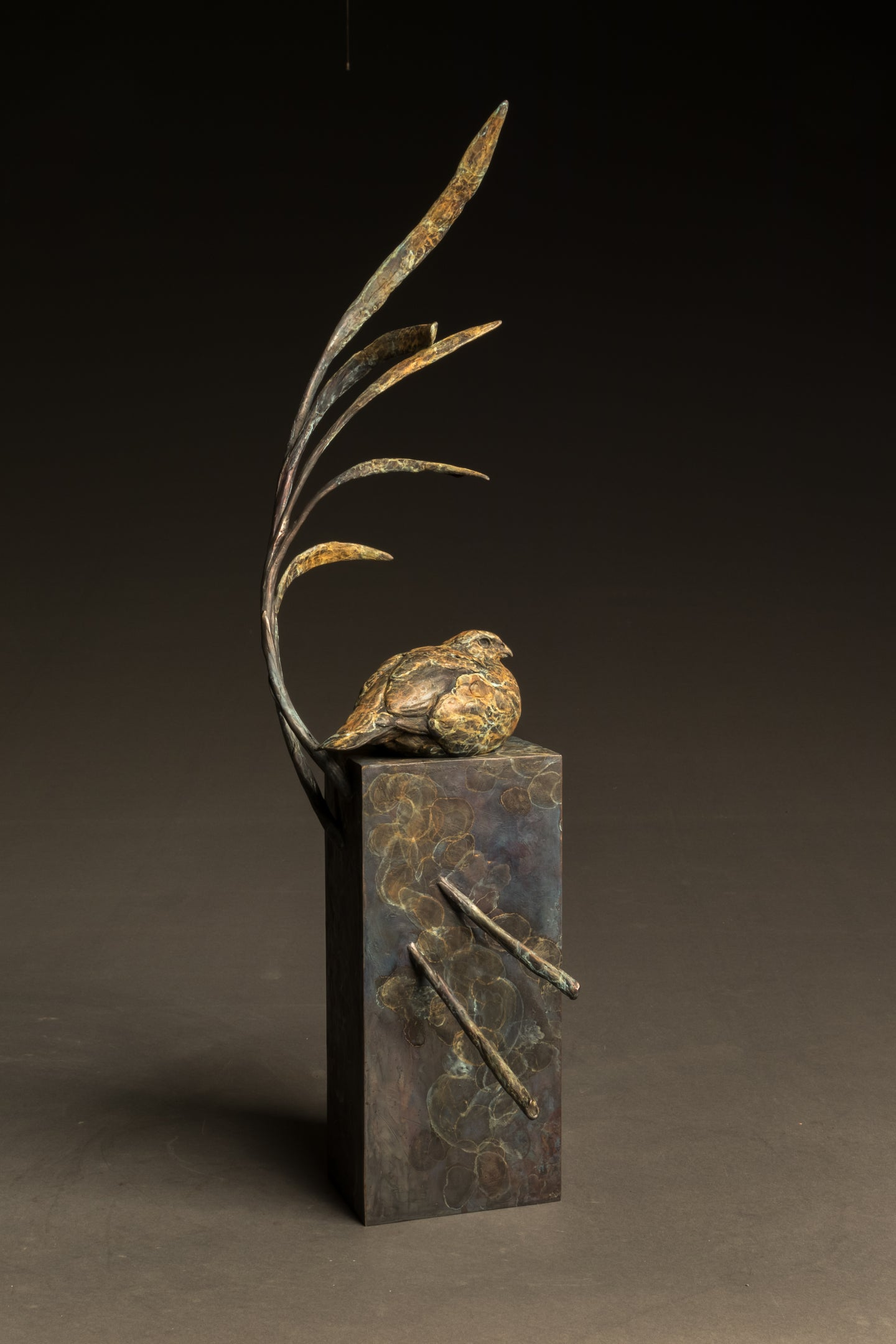 Stefan Savides - Summer Breeze-Bob White Quail - Limited Edition Sculpture