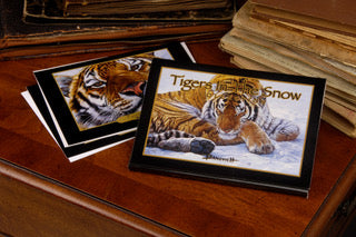 Tigers in the Snow - Banovich Art Notecards