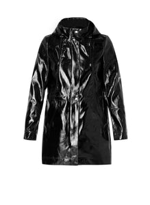 "Black ""Wet Look"" Coat"
