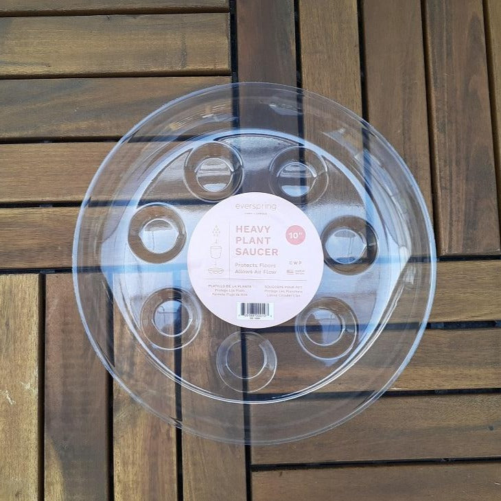 Saucer Round Clear Select a Size