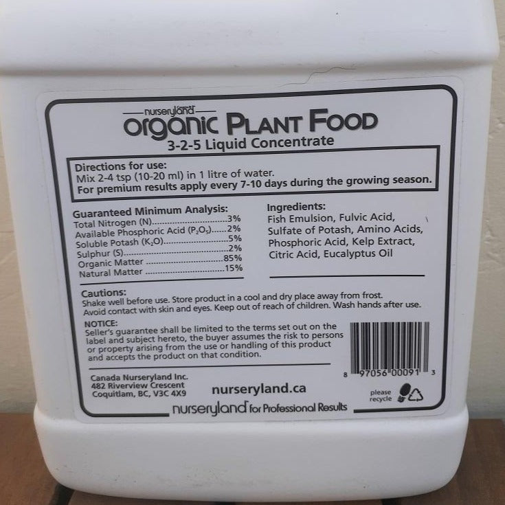 Nurseryland Organic Plant Food Liquid 1 kg