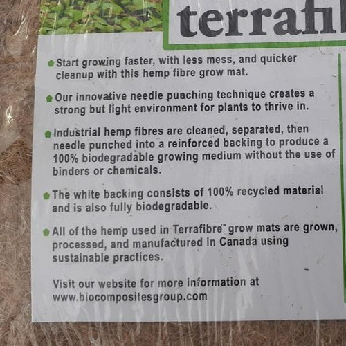 Terrafibre Hemp Growing Mats