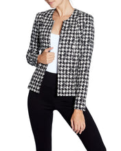 Load image into Gallery viewer, Hounds-tooth Patterned Blazer