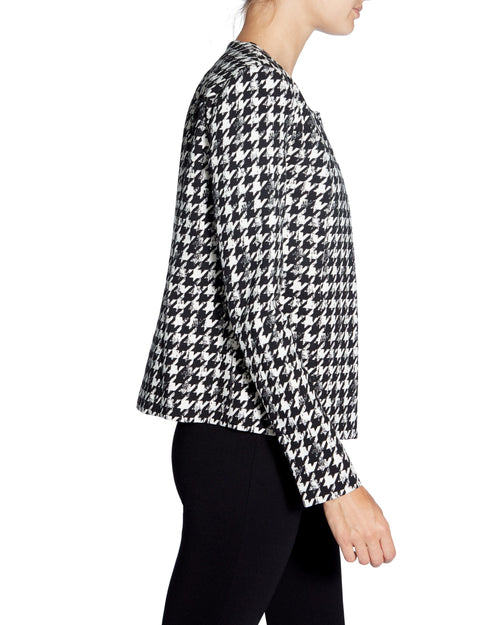 Hounds-tooth Patterned Blazer