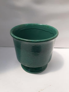 Crackle Pot on Base, Multiple Colours - Medium