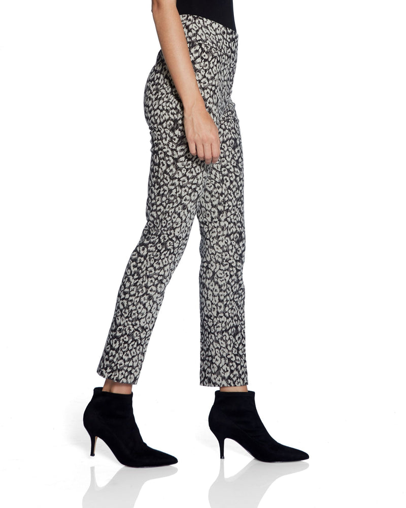 Leopard Print Pant with Side Slit