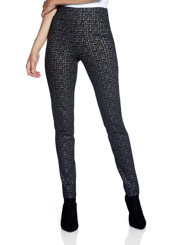 Black Pants with Silver/Blue/Gold Pattern