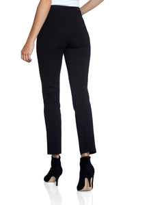 Black Pants with Pockets and Front Slit