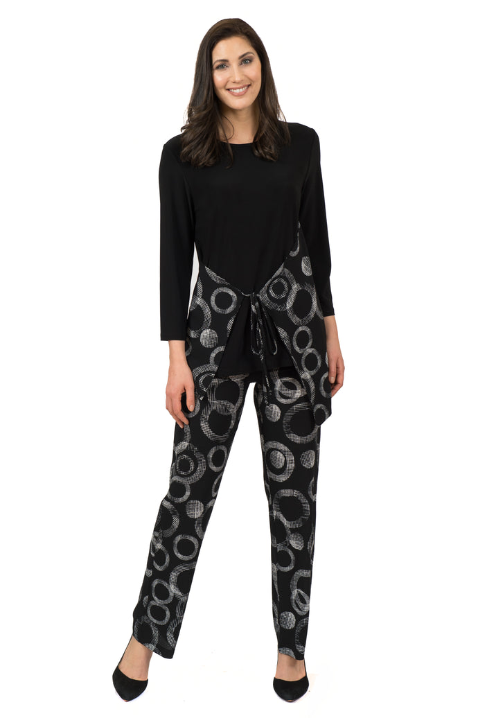 Black & White Patterned Pant