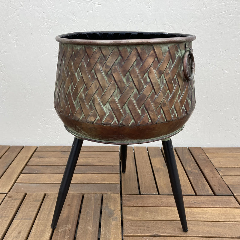 Bronze Metal Plant Stand