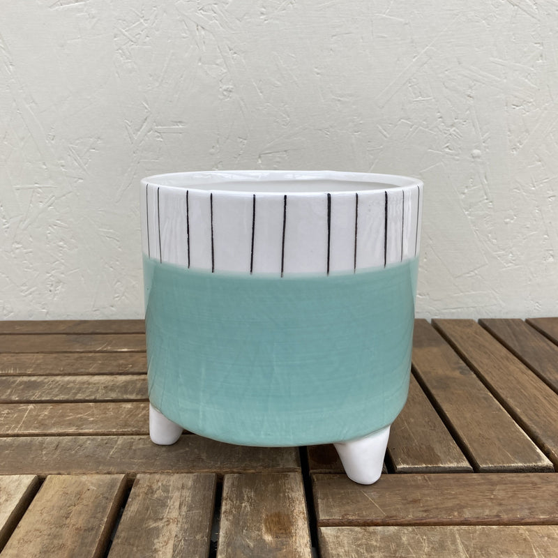 Planter with Legs (Teal)