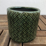 Green Lattice Planter