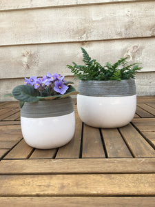 Grey and White Nordic Pot