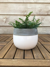 Load image into Gallery viewer, Grey and White Nordic Pot