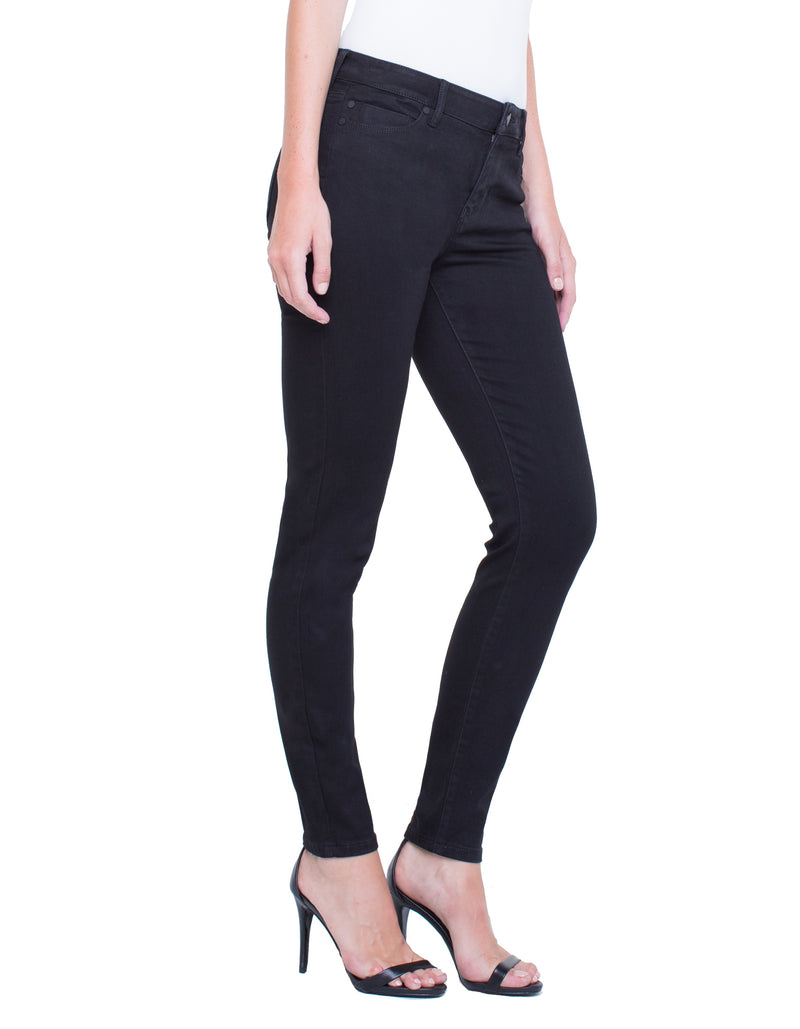 Denim - Abby Skinny in Black Rinse