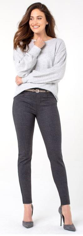 Denim - Gia Glider Skinny in Grey Tweed