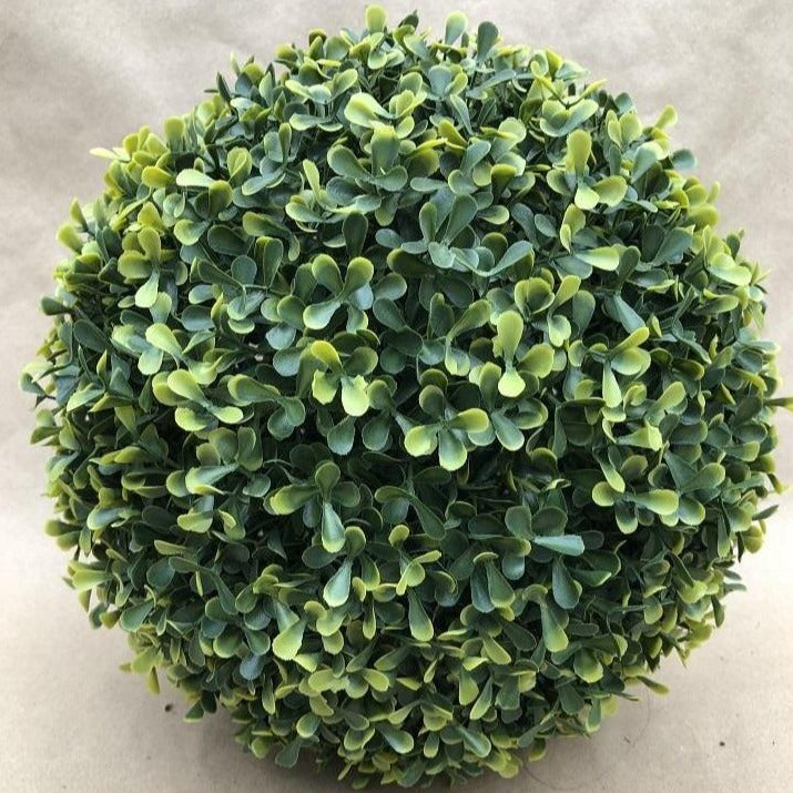 "Faux Boxwood Sphere (12"")"