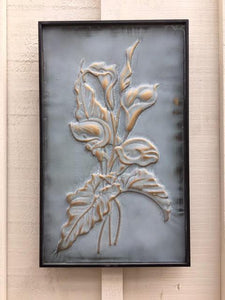 Gold/Green Patina Flower Wall Art